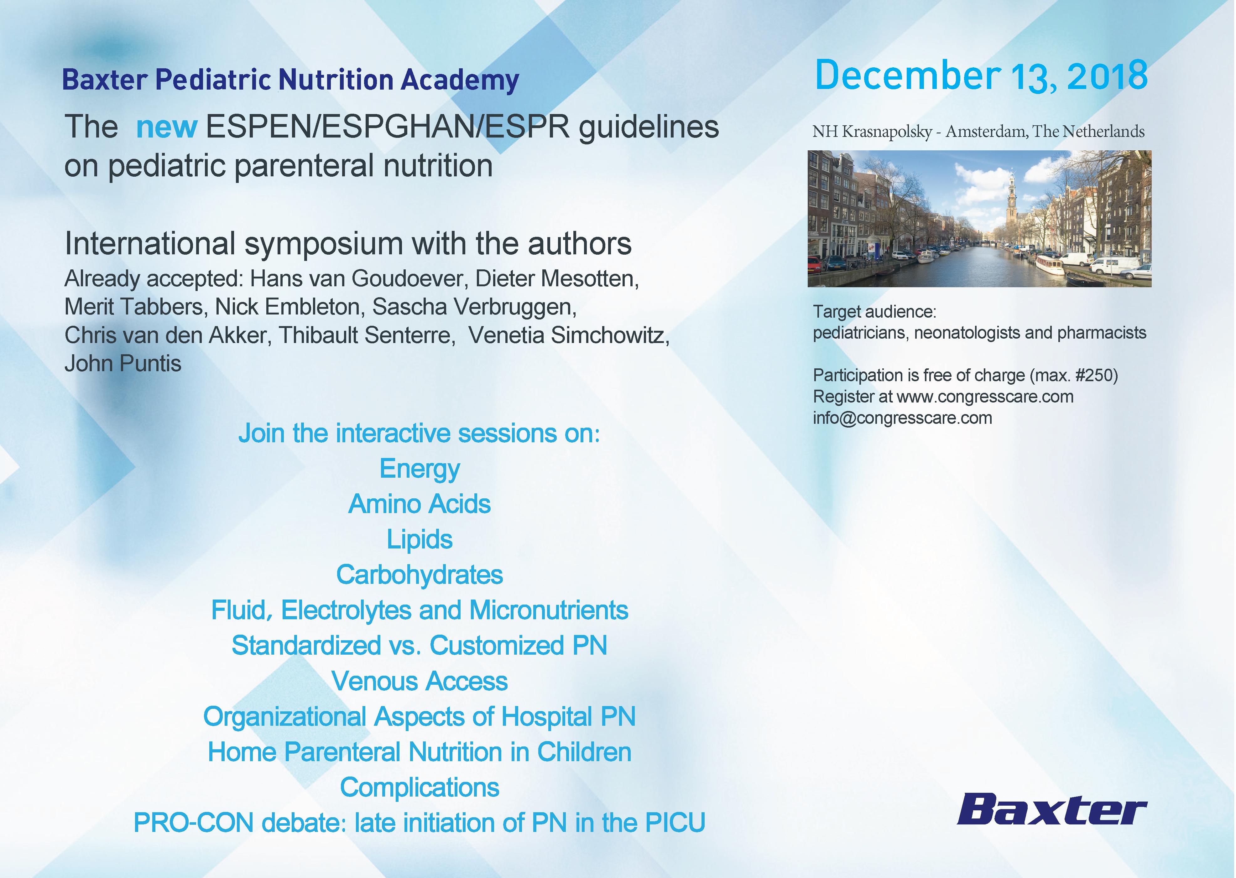 espen guidelines on parenteral nutrition
